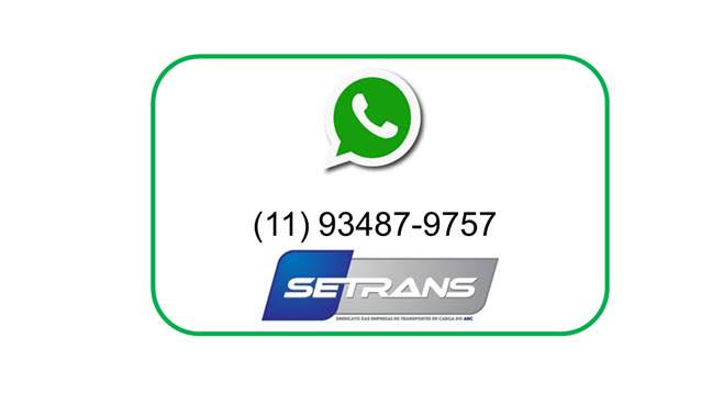 SETRANS tem whatsapp para empresas associadas ficarem atualizadas