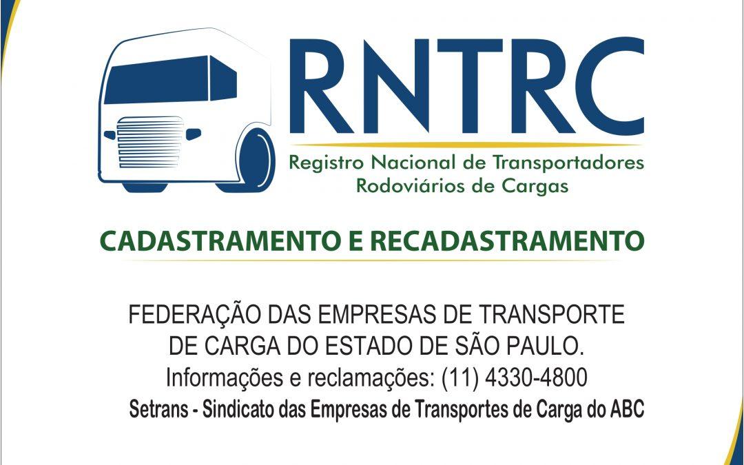 Antecipe a atualização no RNTRC no SETRANS