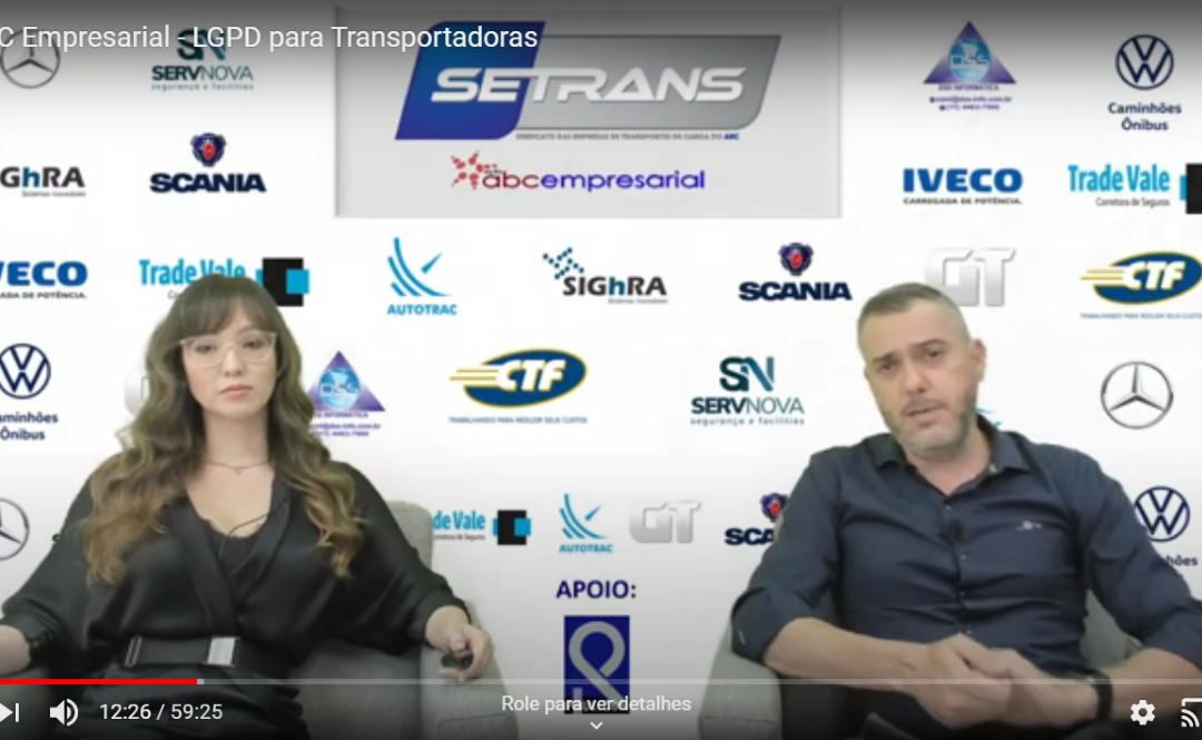 Esclarecedora live do SETRANS sobre a Lei Geral de Proteção de Dados no TRC