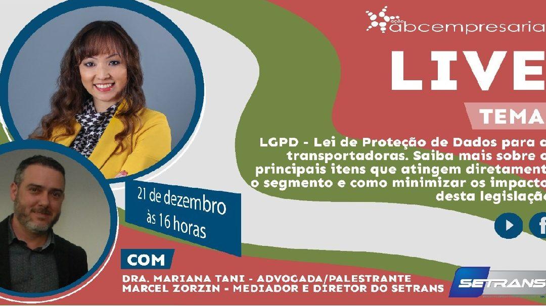 Adiada live sobre a Lei Geral de Proteção de Dados no TRC